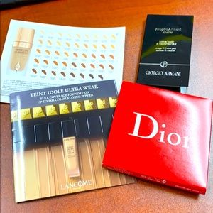 Foundation & lipsticks samples